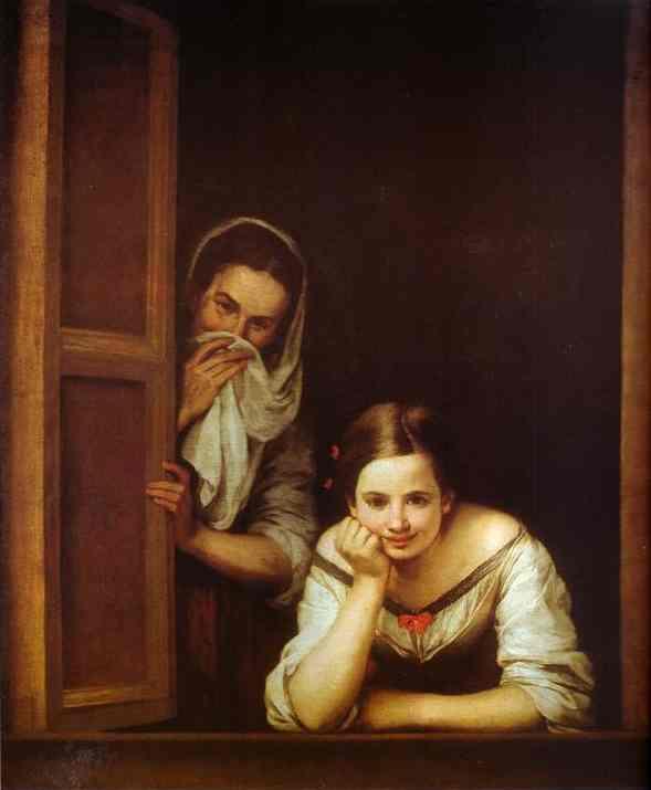 Murillo bartolom esteban la ragazza alla finestra 1670 for Ragazza alla finestra quadro