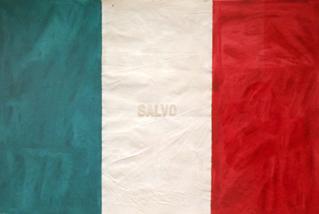 Salvo, Bandiera, 1972tecnica mista su tela, cm. 59x87