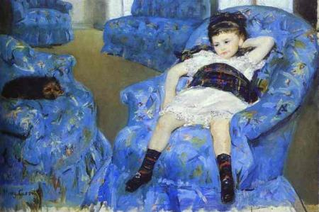 Little Girl in a Blue Armchair1878