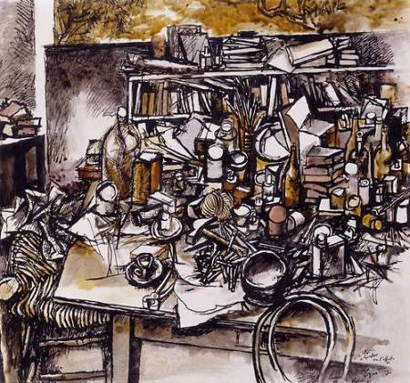 Still Life in the Studio 1962 by Renato Guttuso 1912-1987