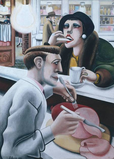 The Snack Bar 1930 by Edward Burra 1905-1976