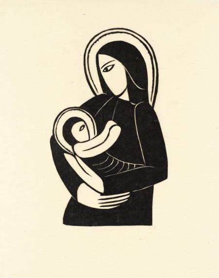 Madonna and Child 1919 by Eric Gill 1882-1940