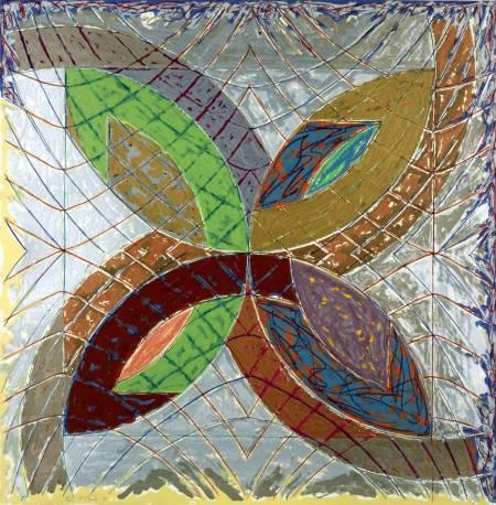 I 1980 by Frank Stella born 1936