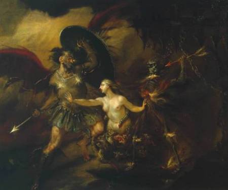 Satan, Sin and Death (A Scene from Milton's 'Paradise Lost') circa 1735-40 by William Hogarth 1697-1764