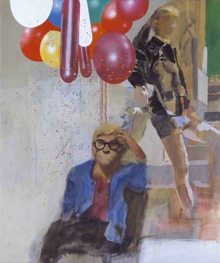 Portrait of David Hockney in a Hollywood Spanish Interior 1965 by Peter Blake born 1932