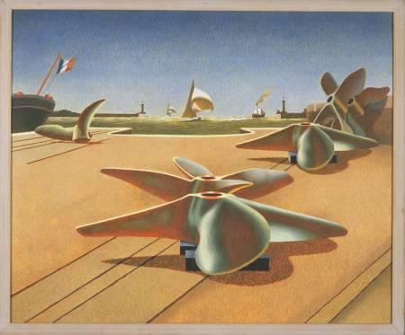 Bronze Ballet 1940 by Edward Wadsworth 1889-1949