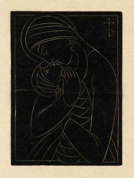 Christmas Card: Madonna & Child 1922 by Eric Gill 1882-1940