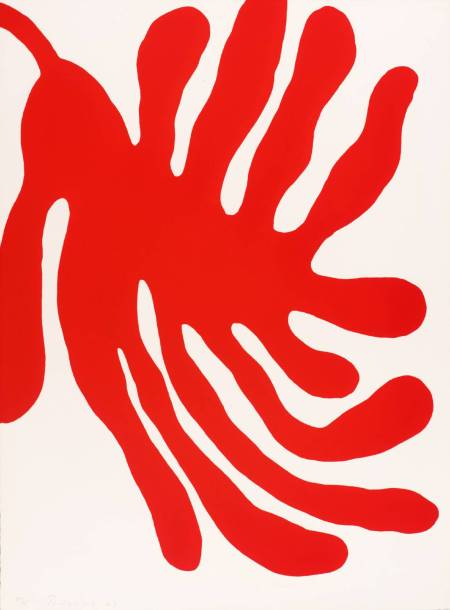 Leaves, Red 1967 William Turnbull born 1922 Presented by Waddington Galleries through the Institute of Contemporary Prints 1975 http://www.tate.org.uk/art/work/P01354