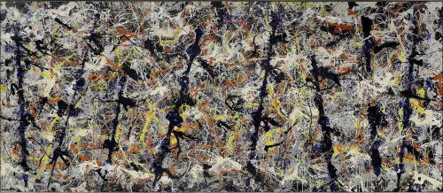 Blue poles, 1952 Oil, enamel and aluminium paint with glass on canvas, 212.1 x 488.9 cm National Gallery of Australia, Canberra (c) The Pollock-Krasner Foundation ARS, NY and DACS, London 2016