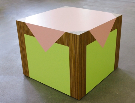 Richard Artschwager (1923-2013) Table / Table 2008 Formica on wood 31 x 37 x 37 in./ 78.7 x 94 x 94 cm